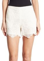 Trina Turk Compay Scalloped Lace Shorts