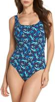 Tommy Bahama Tropical Swirl Reversible One-Piece Swimsuit
