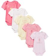Rene Rofe Girls Graphic Bodysuits - Pack of 5 (Baby Girls)