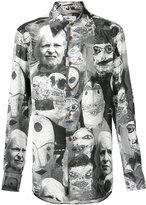 Vivienne Westwood puppet print cutaway shirt