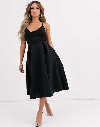 ASOS DESIGN cowl neck cami midi prom dress