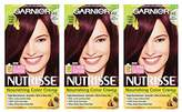 Garnier Nutrisse Nourishing Hair Color Creme,3 Count (Packaging May Vary)