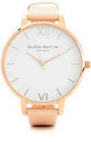 Olivia Burton Women's White Dial Big Dial Watch Nude Peach & Rose Gold