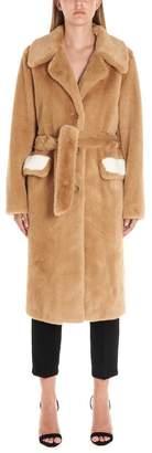 Pinko Belted Fur Coat