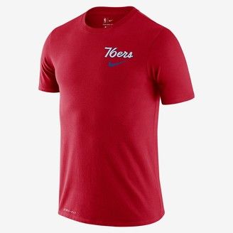 Nike Men's Dri-FIT NBA T-Shirt 76ers Wavy Wordmark