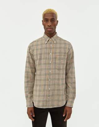 Gitman Brothers Gingham Check Shirt in Brown