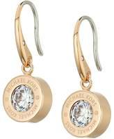 Michael Kors Cubic Zirconium Logo Drop Earrings Earring