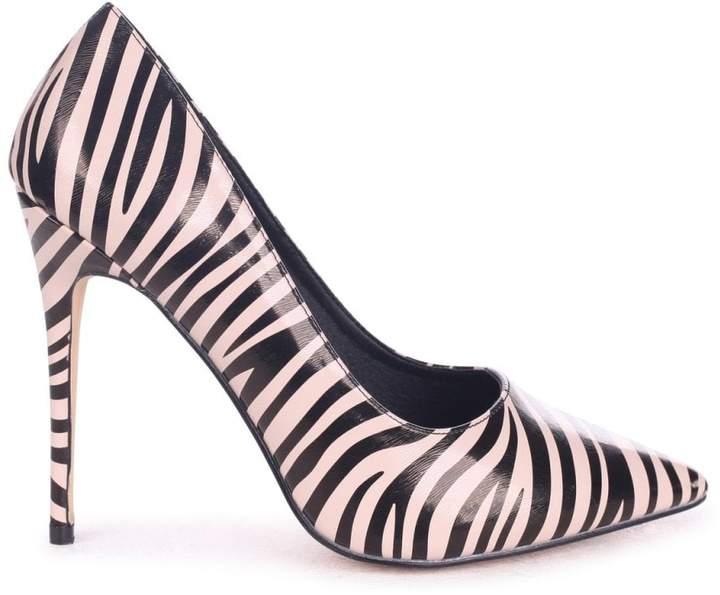 8c702b9f86c Linzi Tally Nude Zebra Print Nappa Classic Pointed Court Heels