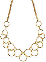 Nine West Necklace, Gold-Tone Circle Frontal Necklace