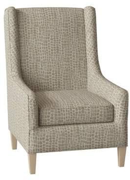 Hekman Adriana Armchair Hekman Body Fabric: 4040-092, Leg Color: Medium Oak, Seat Cushion Fill: Spring Feather Down