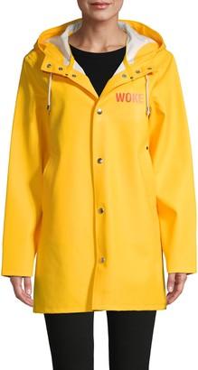 Stutterheim Graphic Snap-Front Raincoat