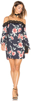 Eight Sixty Whispering Floral Dress in Black