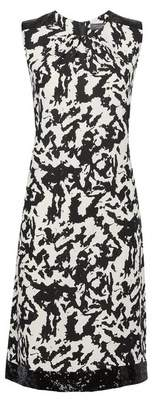Dorothy Perkins Womens **Tall White Camouflage Print Sequin Trim Shift Dress