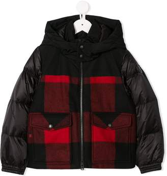 Woolrich Kids check zipped jacket