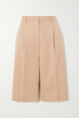 The Row Marco Wool Shorts - Beige
