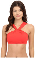 MICHAEL Michael Kors Bohemian Rhapsody Beaded High Neck Bra Top w/ Removable Soft Cups