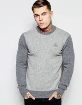 Vivienne Westwood Anglomania Felted Wool Jumper With Embroidered Logo - Grey