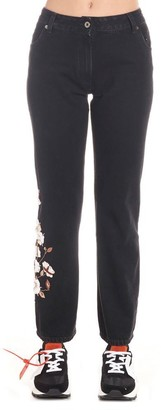 Off-White Printed Kick-Flare Jeans