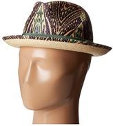 Etro Printed Panama Hat Caps