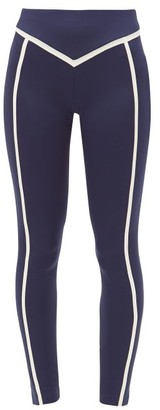 Ernest Leoty Corset High-rise Leggings - Navy White