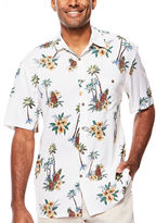 Island Shores Short-Sleeve Printed Camp Shirt