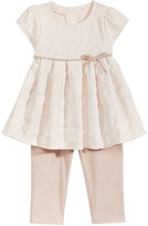 First Impressions 2-Pc. Jacquard Tunic and Faux-Suede Leggings Set, Baby Girls (0-24 months), Created for Macy's