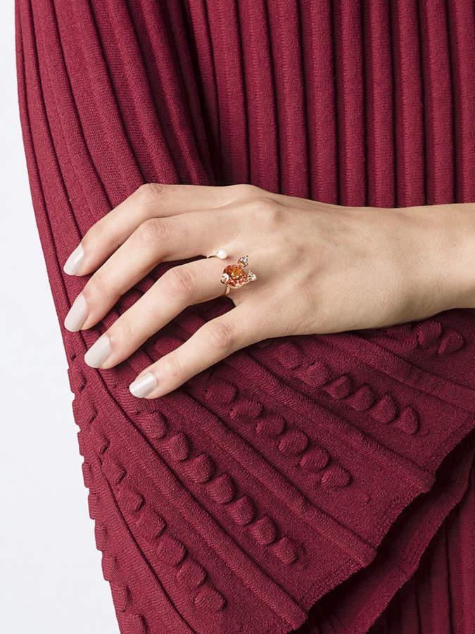 Delfina Delettrez 'magic triangle piercing' diamond ring