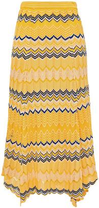 Sandro Jaune Crochet-knit Midi Skirt
