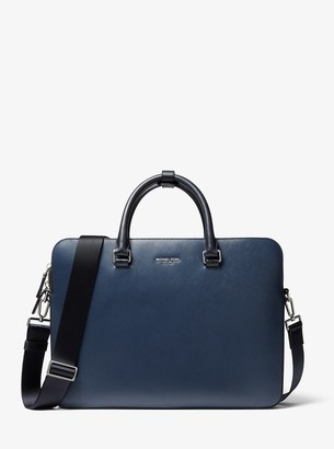 Michael Kors Henry Crossgrain Leather Briefcase