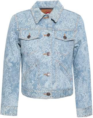 Marc Jacobs Crystal-embellished Printed Denim Jacket