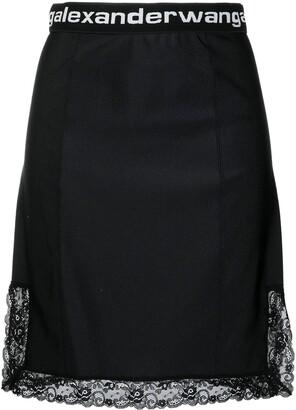 alexanderwang.t Logo Trim Mini Skirt