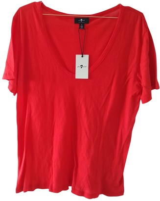 7 For All Mankind Red Cotton Top for Women