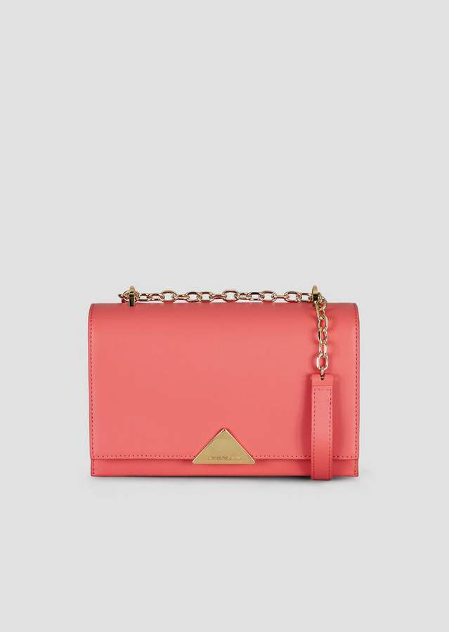 e9a63f1f4c Cross-Body Bag In Smooth Leather With Chain Strap