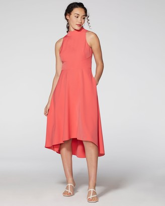 Vince Camuto High-Neck Midi Dress