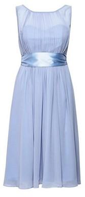 Dorothy Perkins Womens Showcase Petite Blue 'Bethany' Midi Bridesmaid Skater Dress, Blue
