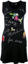 Love Moschino graphic print dress - women - Cotton/Spandex/Elastane - 44