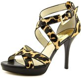 MICHAEL Michael Kors Evie Platform Women US 6.5 Brown Sandals