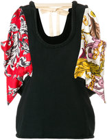 J.W.Anderson colour-block floral embroidered top