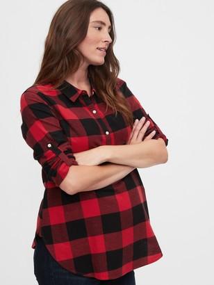 Gap Maternity Easy Plaid Shirt