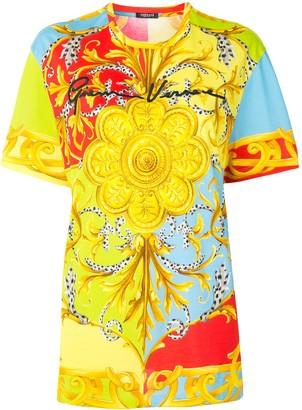 Versace baroque pattern signature T-shirt