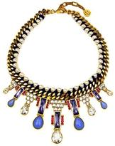 Ben-Amun Woven Chain & Pearl Statement Necklace