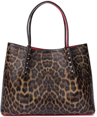 Christian Louboutin Cabarock Small leopard-print leather tote