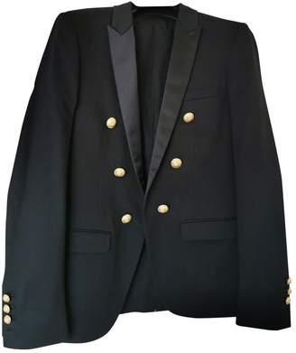 Balmain Black Cotton Jackets