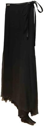 Christian Dior Black Silk Skirt for Women Vintage
