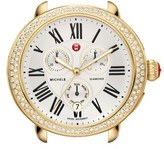 Michele 'Serein' Diamond Gold Plated Watch Case, 40mm x 38mm