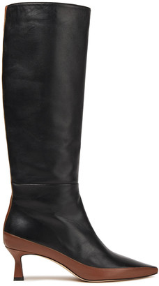 Wandler Bente Two-tone Leather Knee Boots