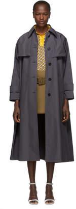 Prada Grey Belted Trench Coat