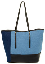 Sondra Roberts Denim Colorblocked Tote