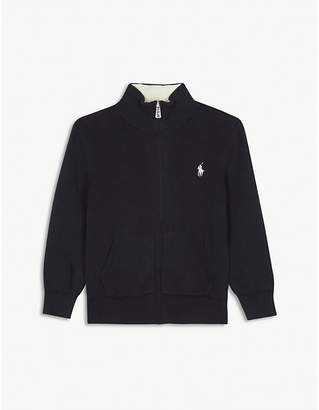 Ralph Lauren Logo cotton zip-through jumper 2-7 years