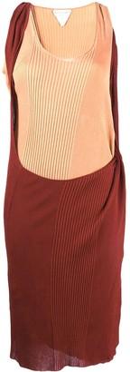 Bottega Veneta Two-Tone Rib-Knit Dress